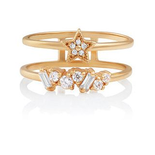 Olivia Burton Celestial Crystal Gold Tone Ring - Size O - Product number 2582503