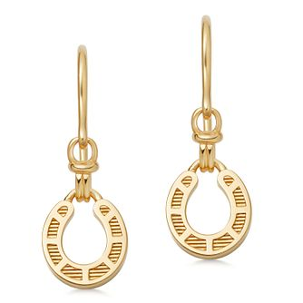 Links Of London Ascot 18ct Gold Horseshoe Drop Earrings - Product number 2582775