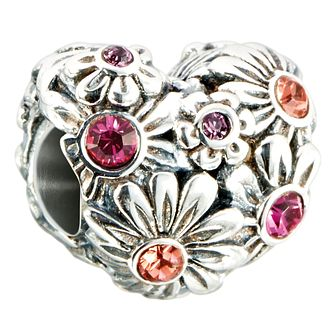 Chamilia zinnia heart flower bed charm - Product number 2583321