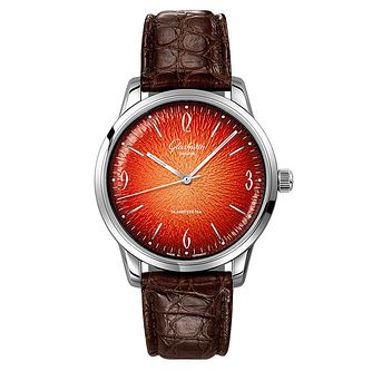 Glashutte Vintage Sixties Men's Brown Leather Strap Watch - Product number 2583348