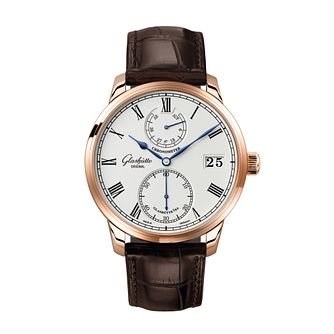 Glashutte Senator Men's Brown Leather Strap Watch - Product number 2583356