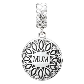 Chamilia Sterling Silver Double Sided Mum Coin Charm - Product number 2583585