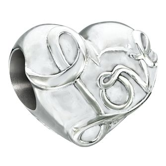 Chamilia sterling silver Love sign Heart bead - Product number 2588099