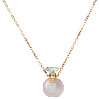 Le Vian Silver Rose Gold Plated Rose Quartz Perfume Necklace - Product number 2598078