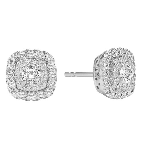 9ct White Gold 1/2ct Diamond Stud Earrings - Product number 2601125