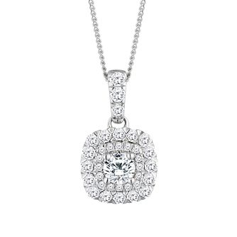 9ct White Gold 1/2ct Diamond Pendant - Product number 2601133