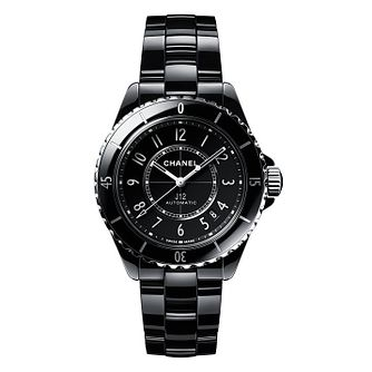 Chanel J12 Ladies' Black Ceramic Bracelet Watch - Product number 2602296