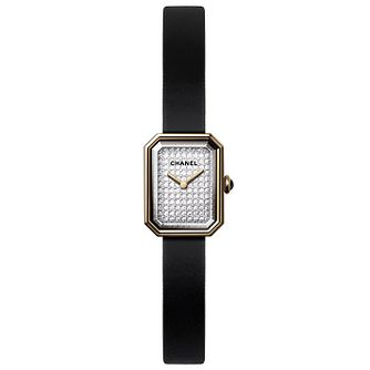 Chanel Premiere Velours 18ct Gold Diamond Dial Strap Watch - Product number 2602415