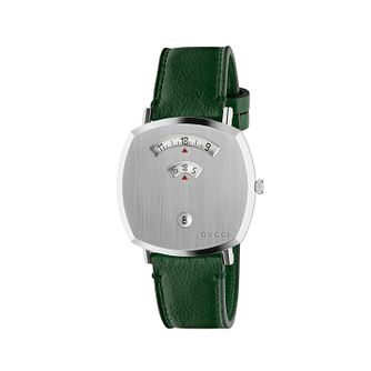 Gucci Grip Unisex Green Leather Strap Watch - Product number 2604922
