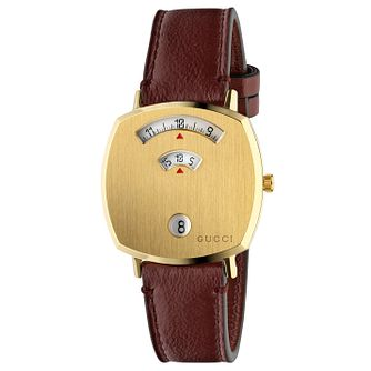 Gucci Grip Unisex Red Leather Strap Watch - Product number 2604930