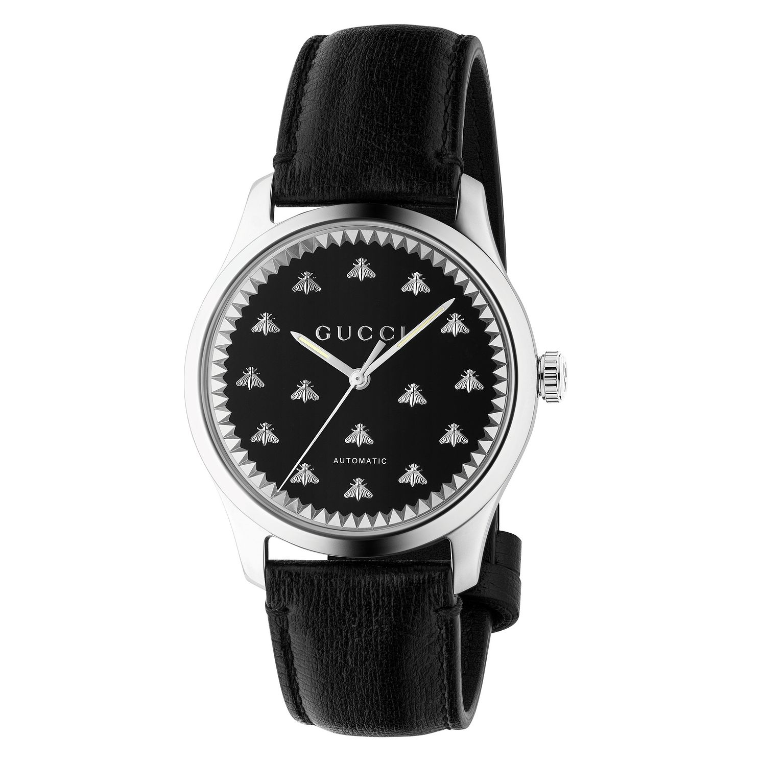 Gucci G-Timeless Bee Black Leather Strap Watch - Product number 2605023