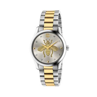 Gucci G-Timeless Bee Ladies' Two Tone Bracelet Watch - Product number 2605104