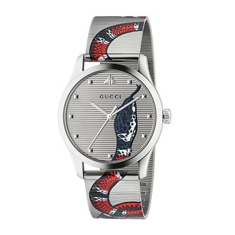 Gucci G-Timeless Snake Mesh Stainless Steel Bracelet Watch - Product number 2605147