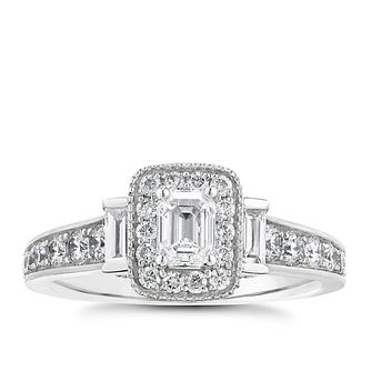 Vera Wang 18ct White Gold 0.95ct Total Diamond Ring - Product number 2607182