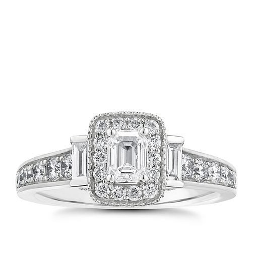 Vera Wang 18ct white gold 0.95CT diamond engagement ring - Product number 2607182