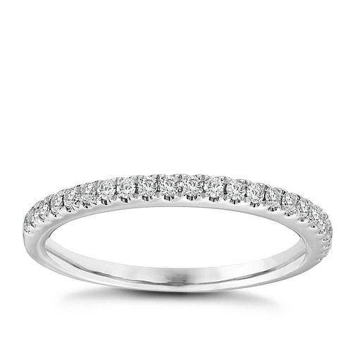 Vera Wang 18ct White Gold 0.23ct Diamond Ring - Product number 2607328