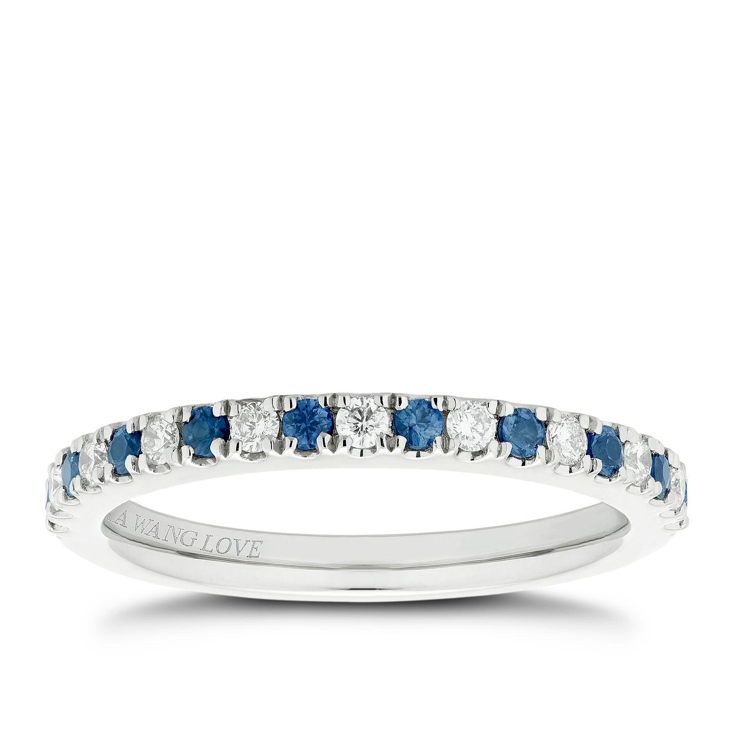 Vera Wang 18ct White Gold Diamond Sapphire Wedding Band Ernest Jones