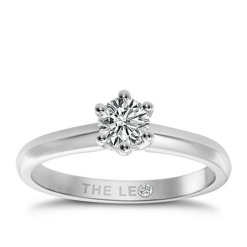 Leo Diamond 18ct White Gold 1ct I-I1 Solitaire Ring - Product number 2613778