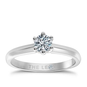 Leo Diamond Platinum 0.88ct I-I1 Solitaire Ring - Product number 2614073