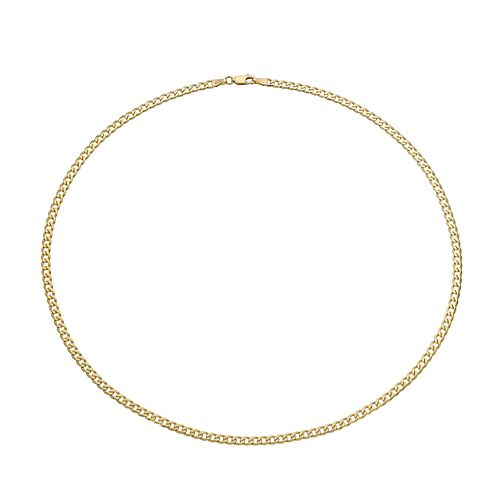 Men's 9ct yellow gold curb necklace - Product number 2614316