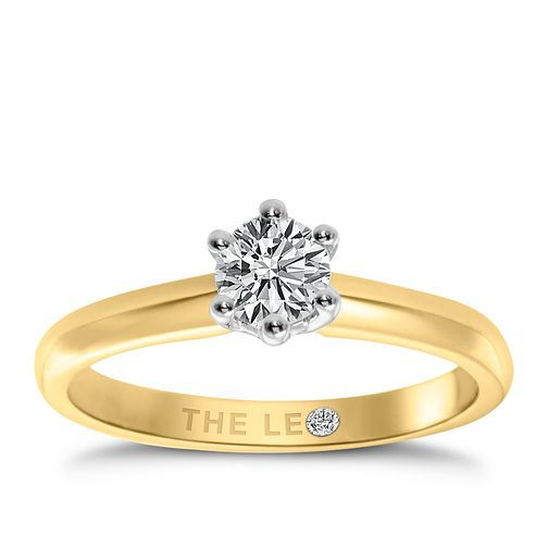 Leo Diamond 18ct Yellow Gold 0.88ct I-I1 Solitaire Ring - Product number 2614553