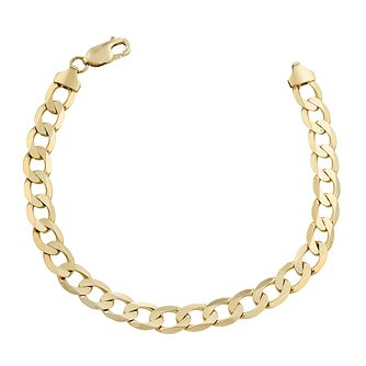 9ct Yellow Gold 8 Inch Curb Chain Bracelet - Product number 2617137