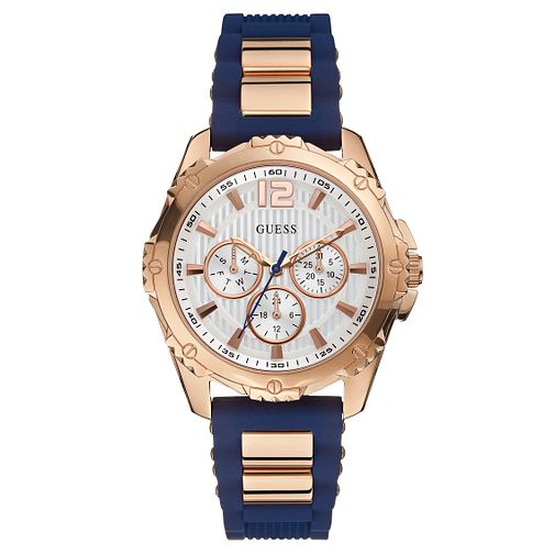 Guess Ladies' Blue Silicone Strap Watch - Product number 2621681