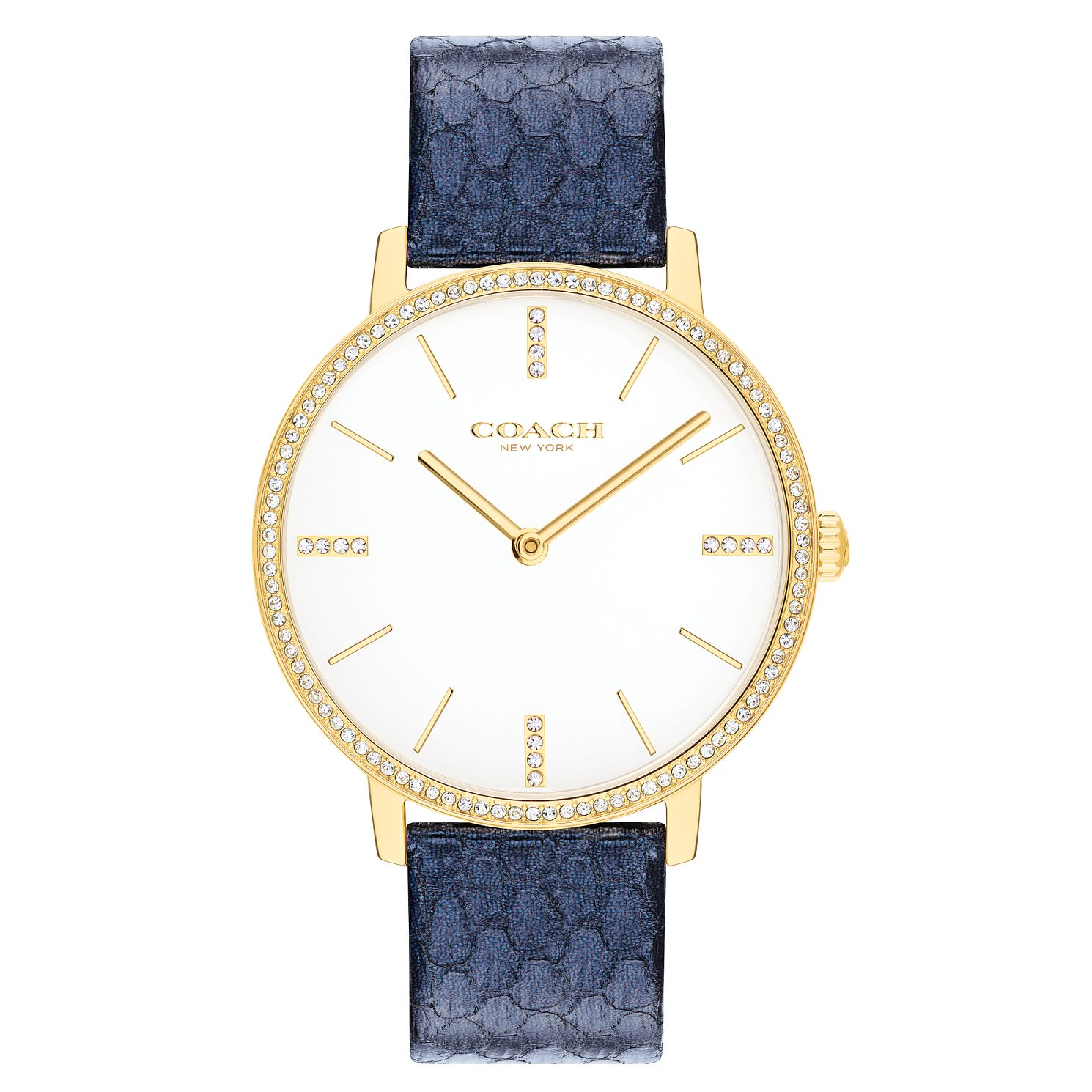 Coach Audrey Ladies' Navy Leather Strap Watch - Product number 2621754