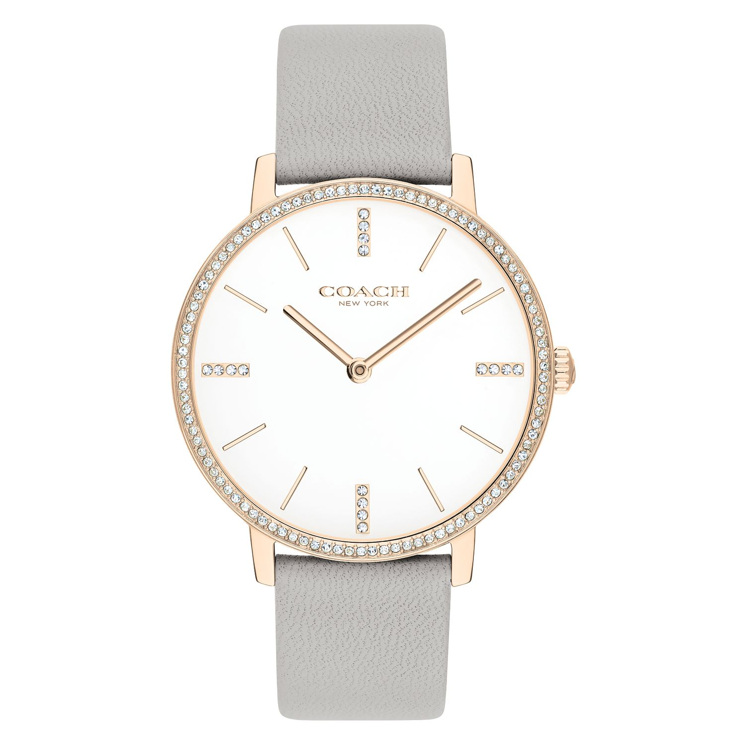 Coach Audrey Ladies' Grey Leather Strap Watch - Product number 2621762