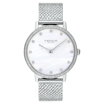 Coach Audrey Ladies' Stainless Steel Mesh Bracelet Watch - Product number 2621770