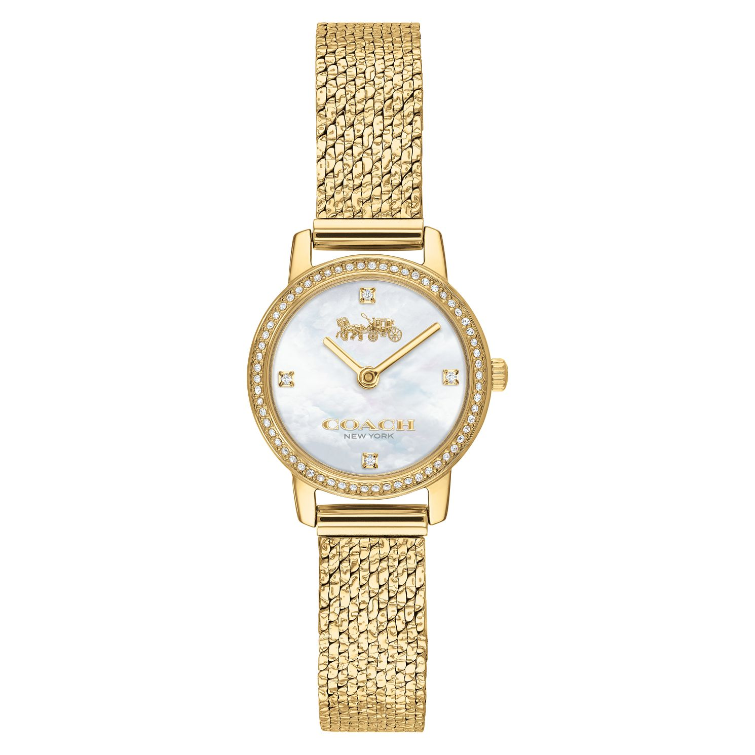 Coach Audrey Ladies' Yellow Gold Tone Bracelet Watch - Product number 2621800