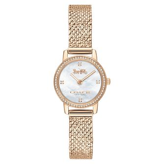 Coach Audrey Ladies' Champagne Gold Ip Mesh Bracelet Watch - Product number 2621878
