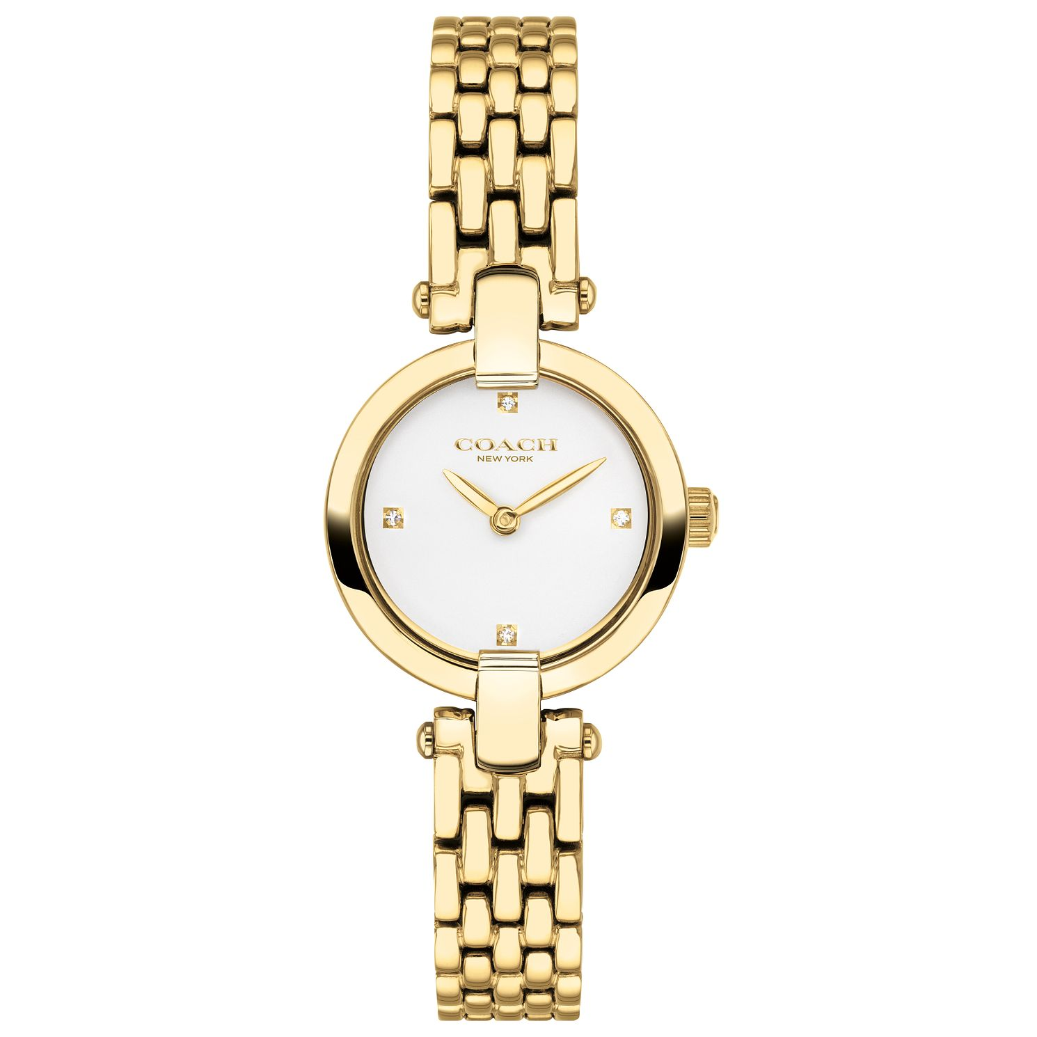 Coach Chrystie Ladies' Yellow Gold Tone Bracelet Watch - Product number 2622017