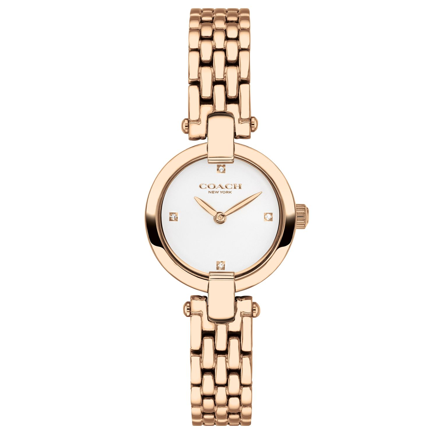 Coach Chrystie Ladies' Rose Gold Tone Bracelet Watch - Product number 2622033