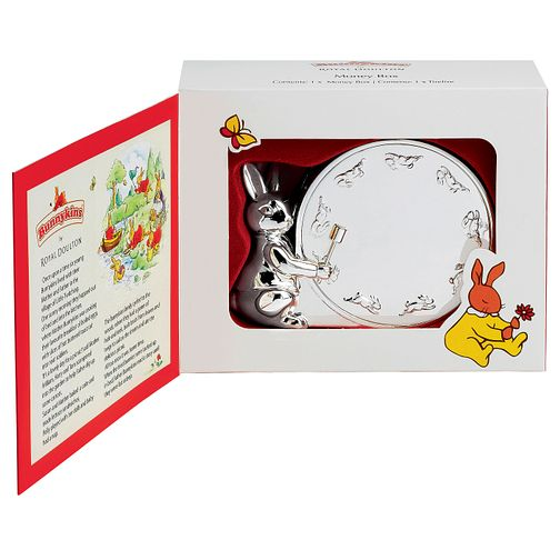 Royal Doulton Silver Plated Bunnykins Money Box - Product number 2622378