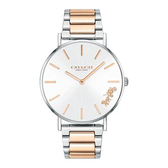 Coach Perry Ladies' Two Tone Ip Bracelet Watch - Product number 2622394