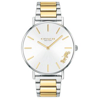 Coach Perry Ladies' Two Tone Ip Bracelet Watch - Product number 2622440