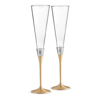Wedgwood With Love gold champagne flutes - Product number 2622513