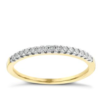 9ct Yellow Gold 0.15ct Diamond Ring - Product number 2624524