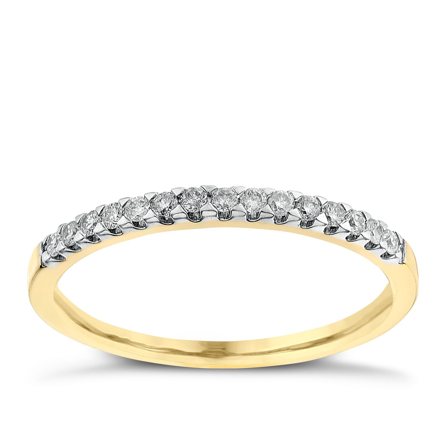 18ct Yellow Gold 0.15ct Diamond Ring - Product number 2625172