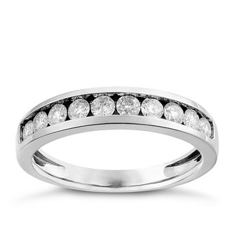 9ct White Gold 1/2ct Diamond Ring - Product number 2626101