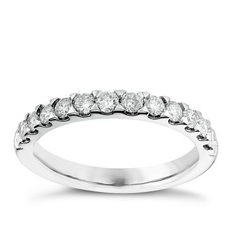 Platinum 0.50ct diamond wedding ring - Product number 2626373