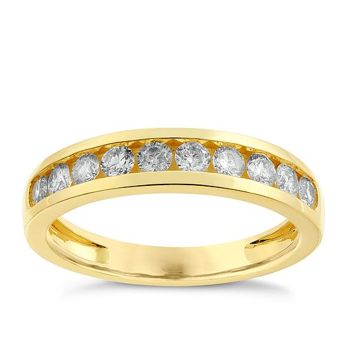 9ct gold 1/2ct diamond ring - Product number 2626926