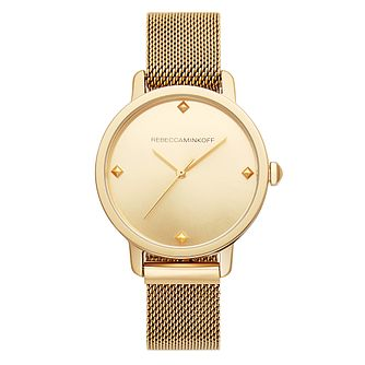 Rebecca Minkoff BFFL Ladies' Gold Tone Bracelet Watch - Product number 2632535