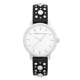 Rebecca Minkoff BFFL Ladies' Black Leather Strap Watch - Product number 2632578