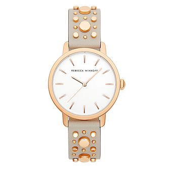 Rebecca Minkoff Bffl Ladies' Nude Leather Strap Watch - Product number 2632586