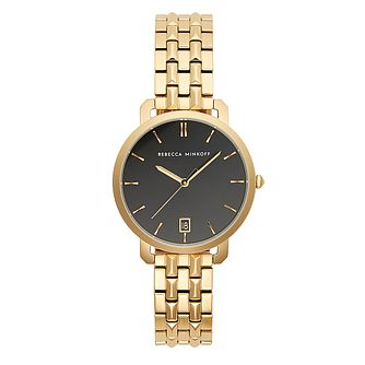 Rebecca Minkoff Billie Yellow Gold Tone Bracelet Watch - Product number 2632861