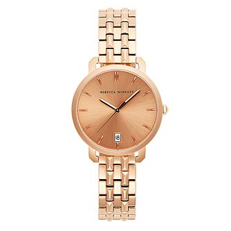Rebecca Minkoff Billie Rose Gold Tone Bracelet Watch - Product number 2632896
