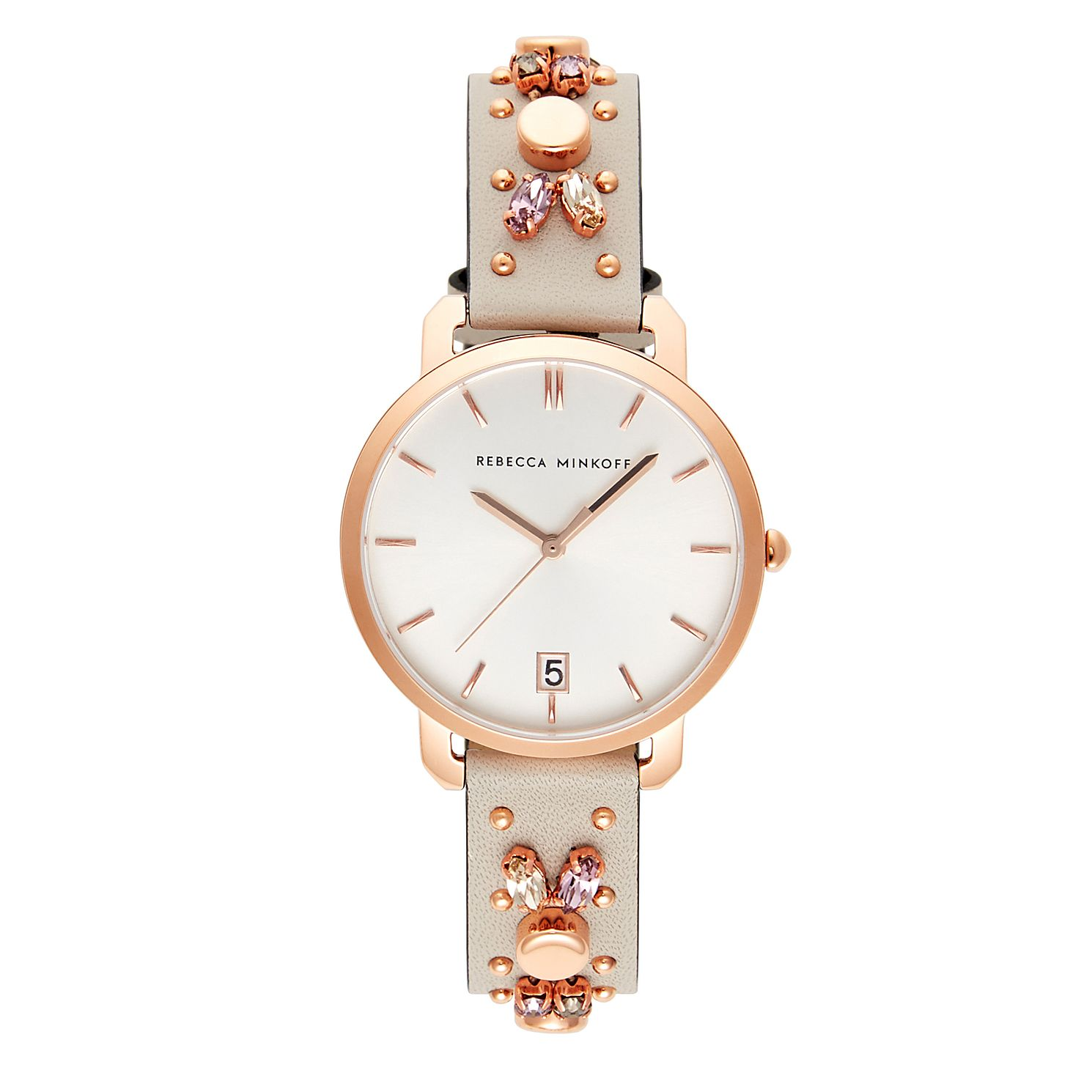 Rebecca Minkoff Billie Nude Leather Strap Watch - Product number 2632918