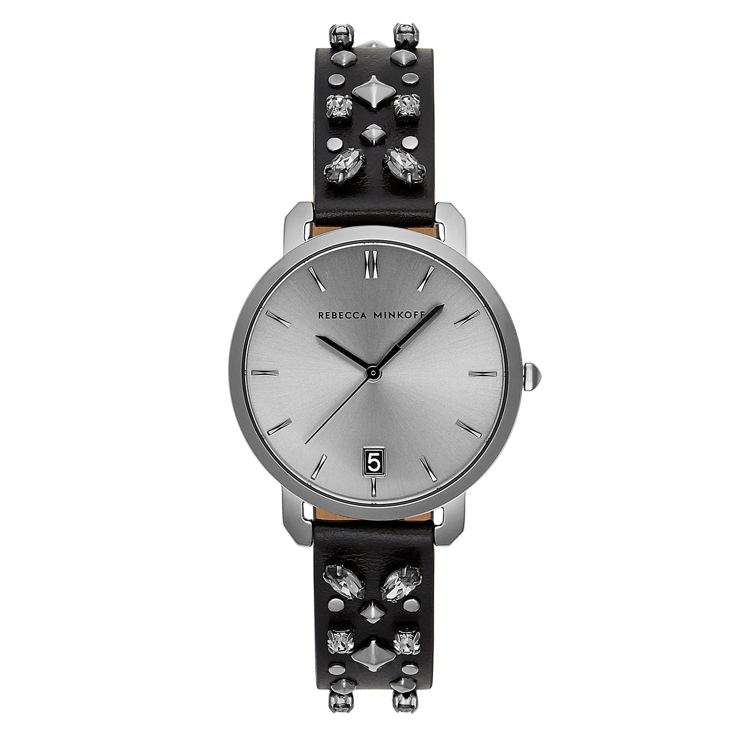 Rebecca Minkoff Billie Black Leather Strap Watch - Product number 2632926